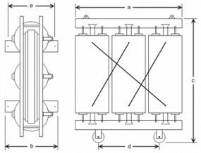 1600 kVA, 10/0,525 kV +-5 %, Yyn0, Gießharz