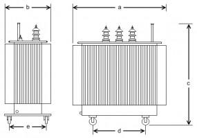 50 kVA, 950/400 V +-4 %, Dyn5, Hermetik